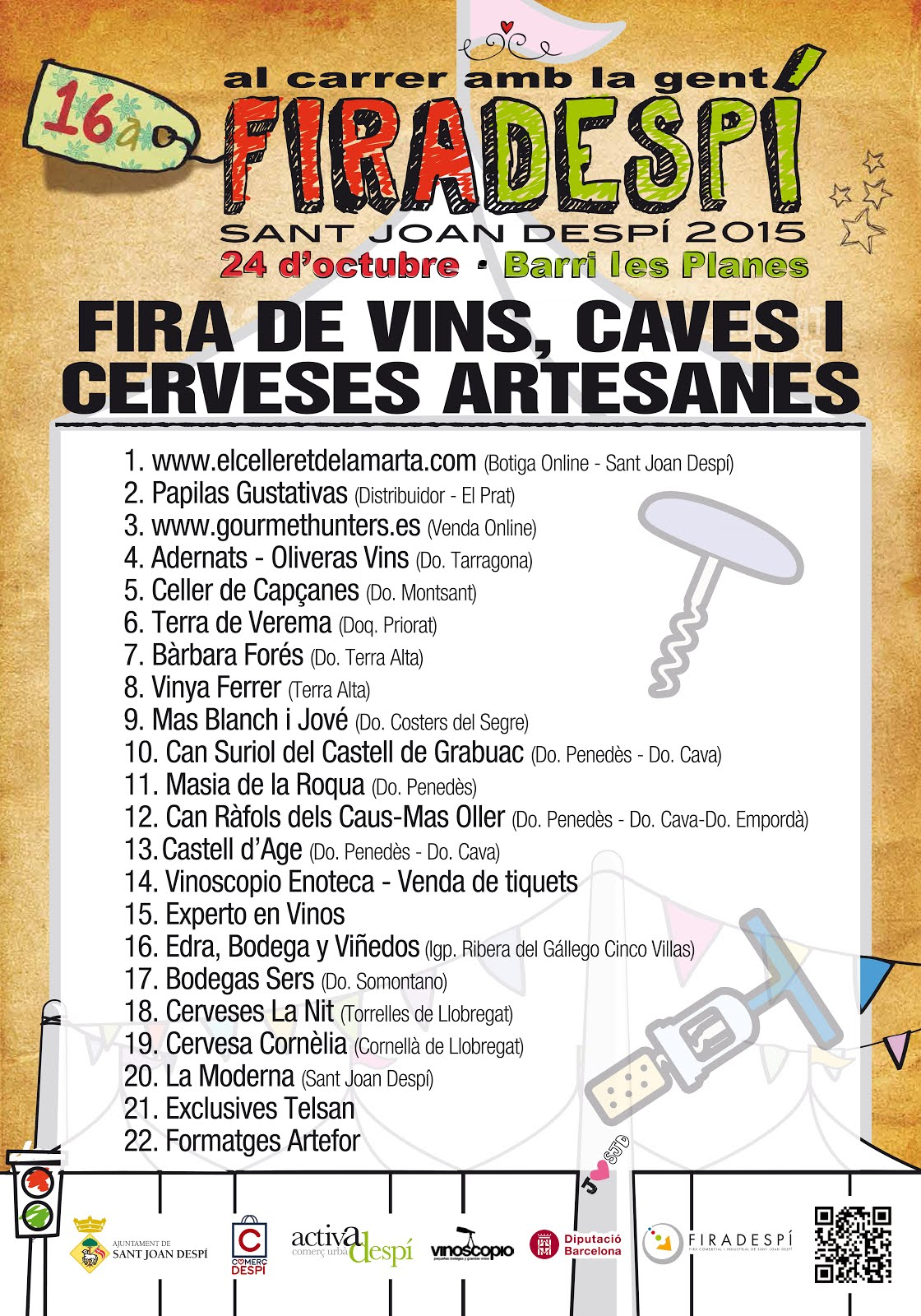 2ª FIRA DE VINS, CAVES I CERVESES ARTESANES DE SANT JOAN DESPÍ