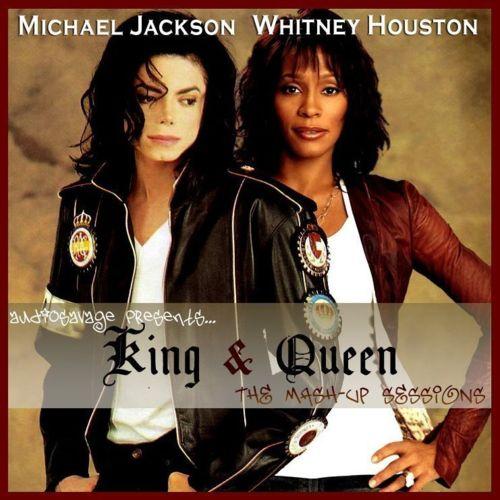 Michael Jackson  amp  Whitney Houston - jpgWhitney Houston And Michael Jackson Kissing