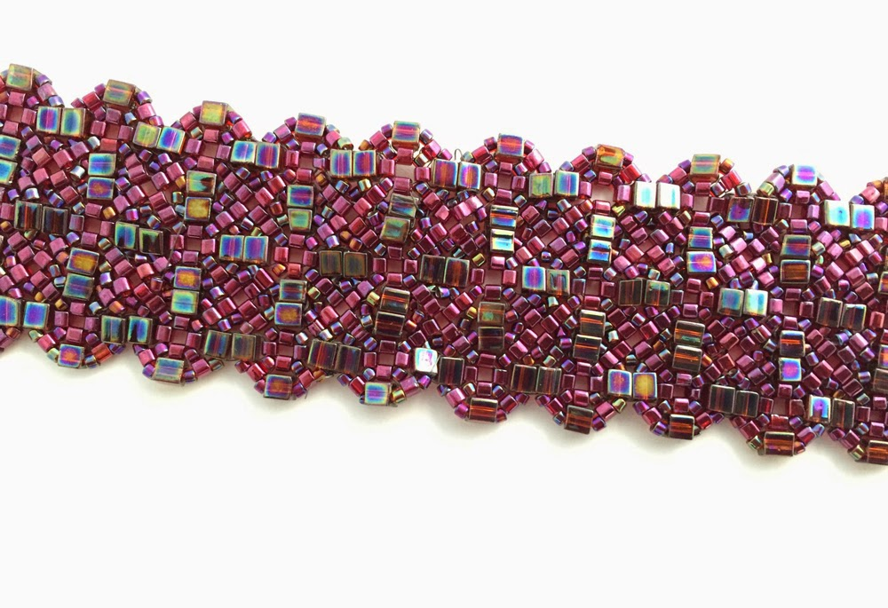 Mosaic bracelet by Jennifer Brown, photography by Karen Williams
