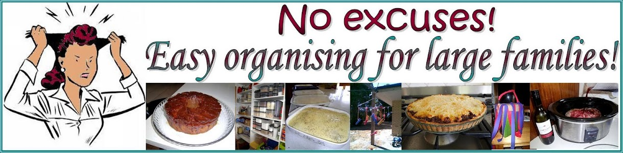 No excuses! Easy organising for large families