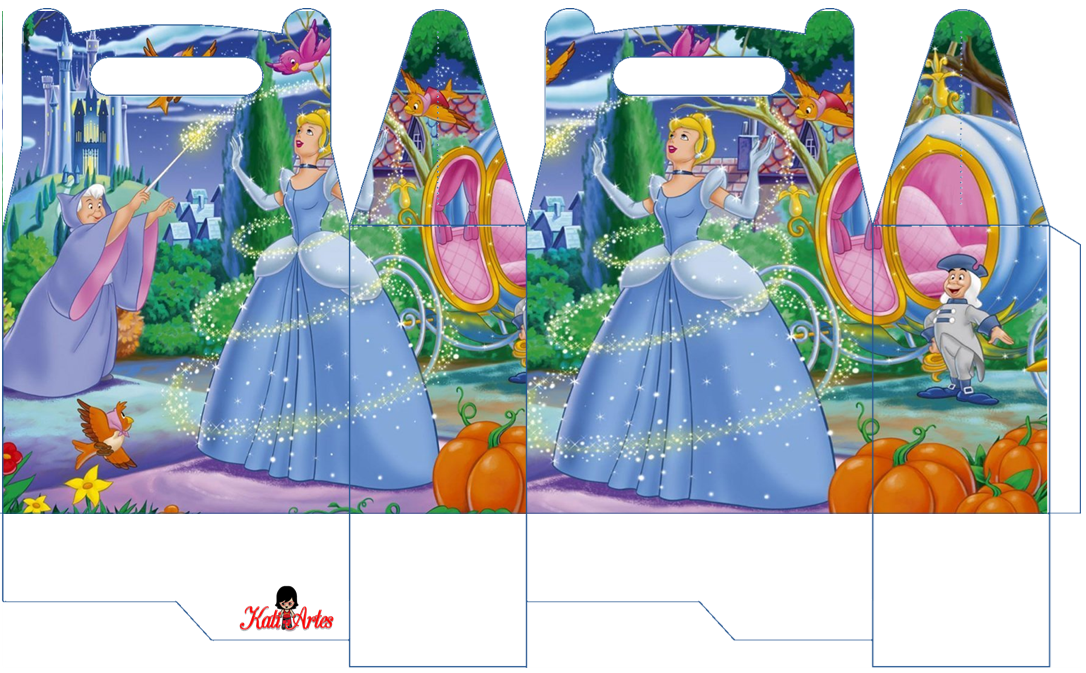Cinderella Princess: Free Printable Lunch Boxes.