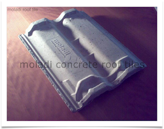 concrete roof tile produced on site