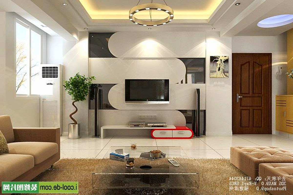 Tv living room ideas modern house for Family room tv wall ideas