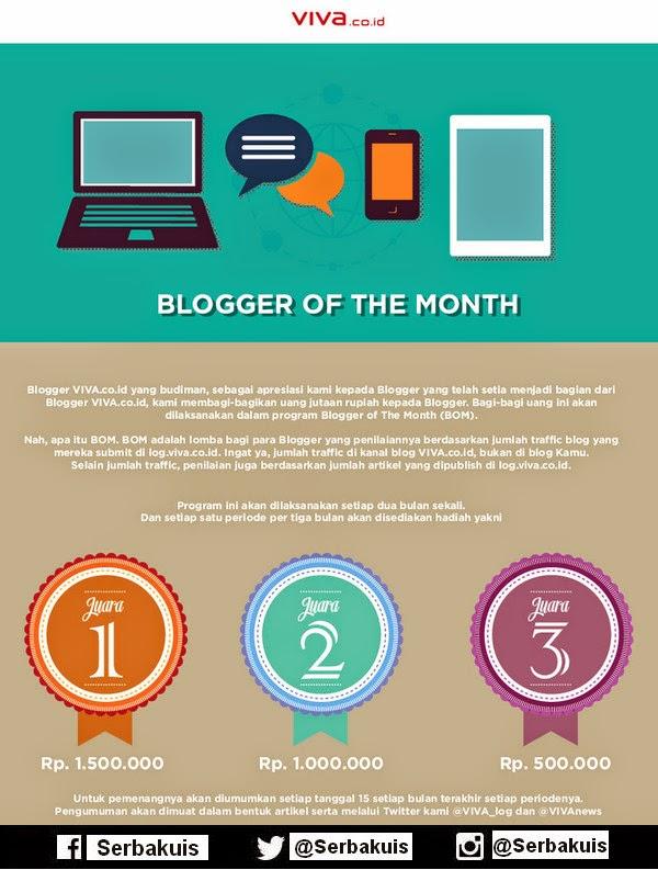 Viva Blogger Of The Month Berhadiah 3 Juta per Bulan