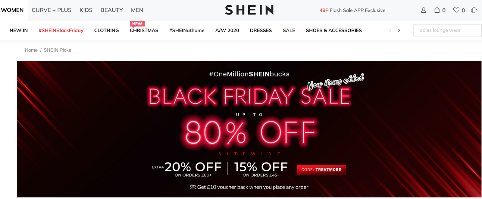 Shien UK Black Friday Sales