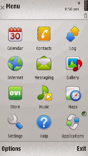 Paranoid Android Theme on Nokia 5800