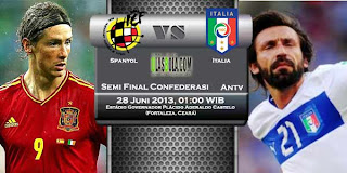 Live Streaming TV One Spanyol vs Italia 28 Juni 2013