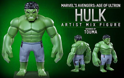 Marvel's Avengers Age of Ultron Artist Mix Figures Series 2 by Touma & Hot Toys - Hulk
