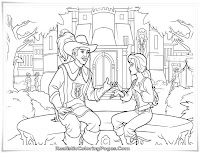 Realistic Barbie And The Three Musketeers Coloring Sheet