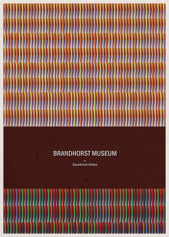 Brandhorst Museum -  Sauerbruch Hutton - Posters de Arquitectura Minimalistas de André Chiote