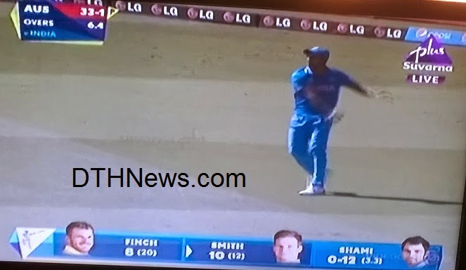 Watch Live ICC Cricket World Cup 2015 on Suverna Plus TV Channel in Kannada / English language.