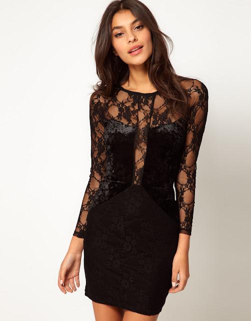 Фото ажурных платьев черных