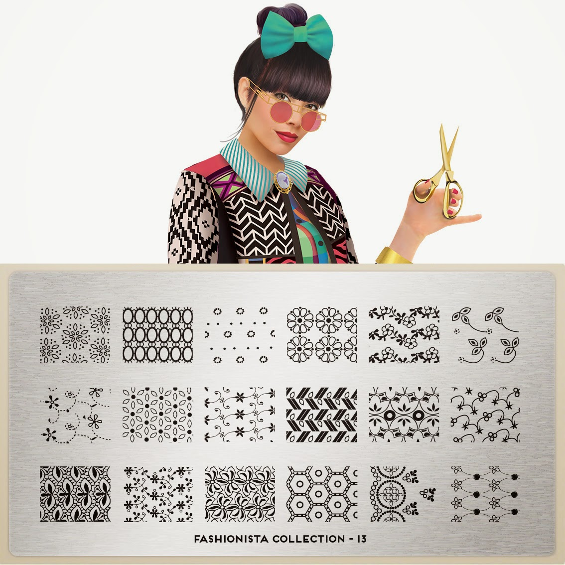 Lacquer Lockdown - MoYou London Fashionista Collection, new stamping plates 2014, new nail art stamping plates 2014, nail art stamping plates nail art stamping blog, new nail art image plates 2014, cute nail art ideas, diy nail art, stamping, MoYou London