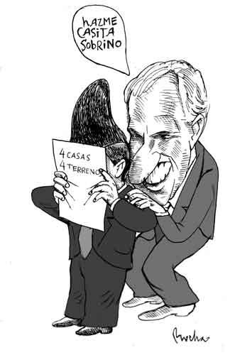 Caricaturas Politicas: Casita a Arturo Montiel con Peña Nieto