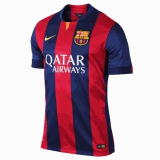 jersey barcelona home, musim 2014-2015, grade ori made in thailand, tempat jual baju bola online jerrsey grade ori, barcelona terbaru
