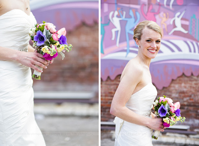 Bride in downtown Indianapolis