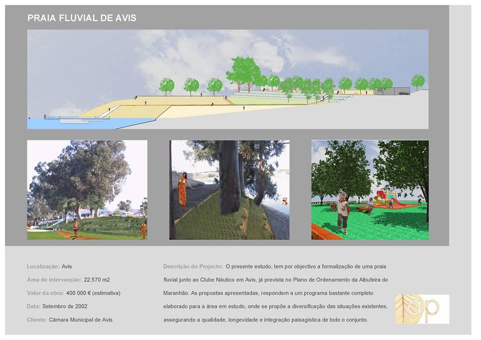 Praia Fluvial de Avis - Projeto