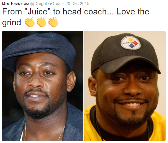 "#OmarEpps #MikeTomlin #nfl.- from ""juice"" to head coach... love the grind"