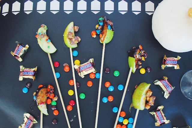 how to make halloween candy apples, halloween candy for dessert