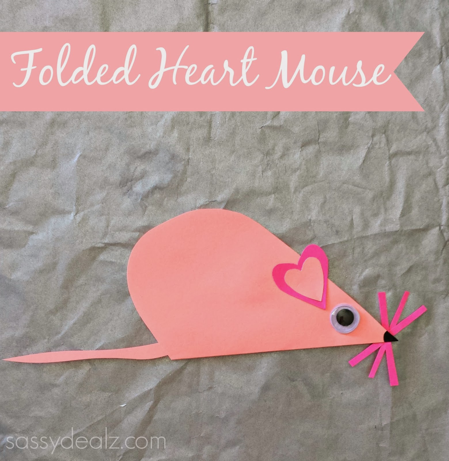 Valentine love bug craft - List Of Easy Valentine S Day Crafts For Kids Folded Heart Mouse Craft For Kids