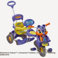 Sepeda Roda Tiga Royal RY7798C Baby Joy Tupai 2 Kursi Kanopi