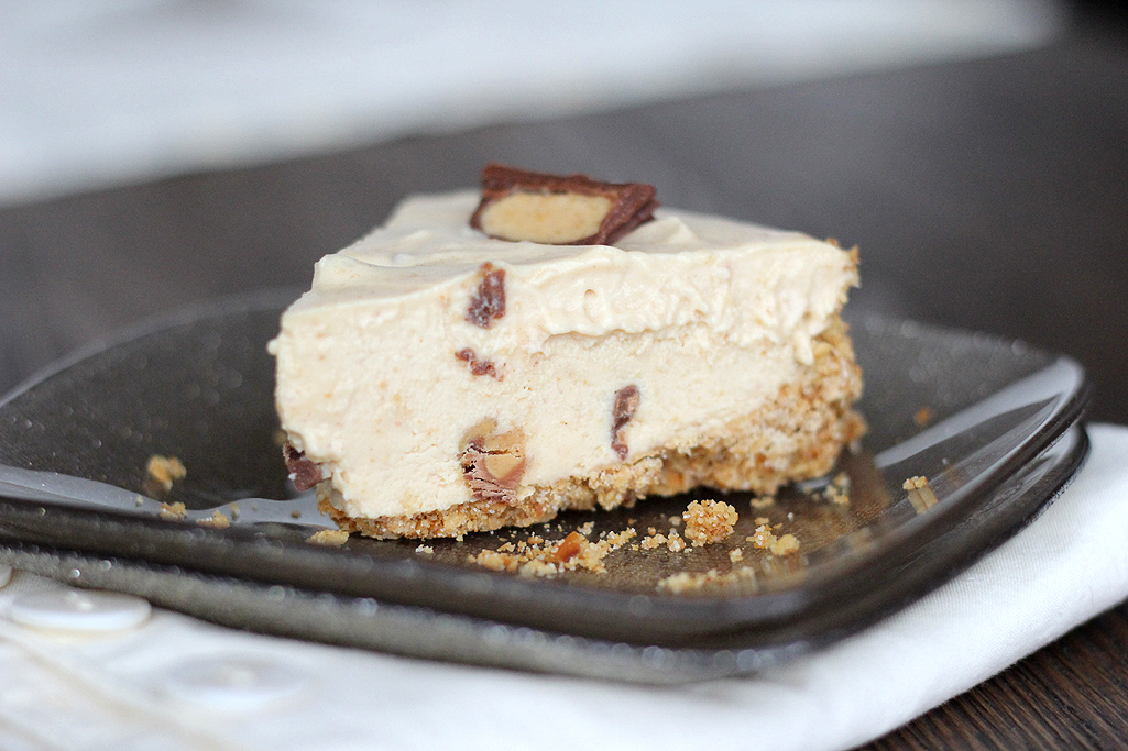 Frozen Reese's Peanut Butter Pie with Pretzel Crust