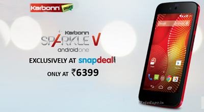 Karbonn Android One Sparkle V: 4.5 inch 1.3 GHz Dualcore Smartphone Specs Price