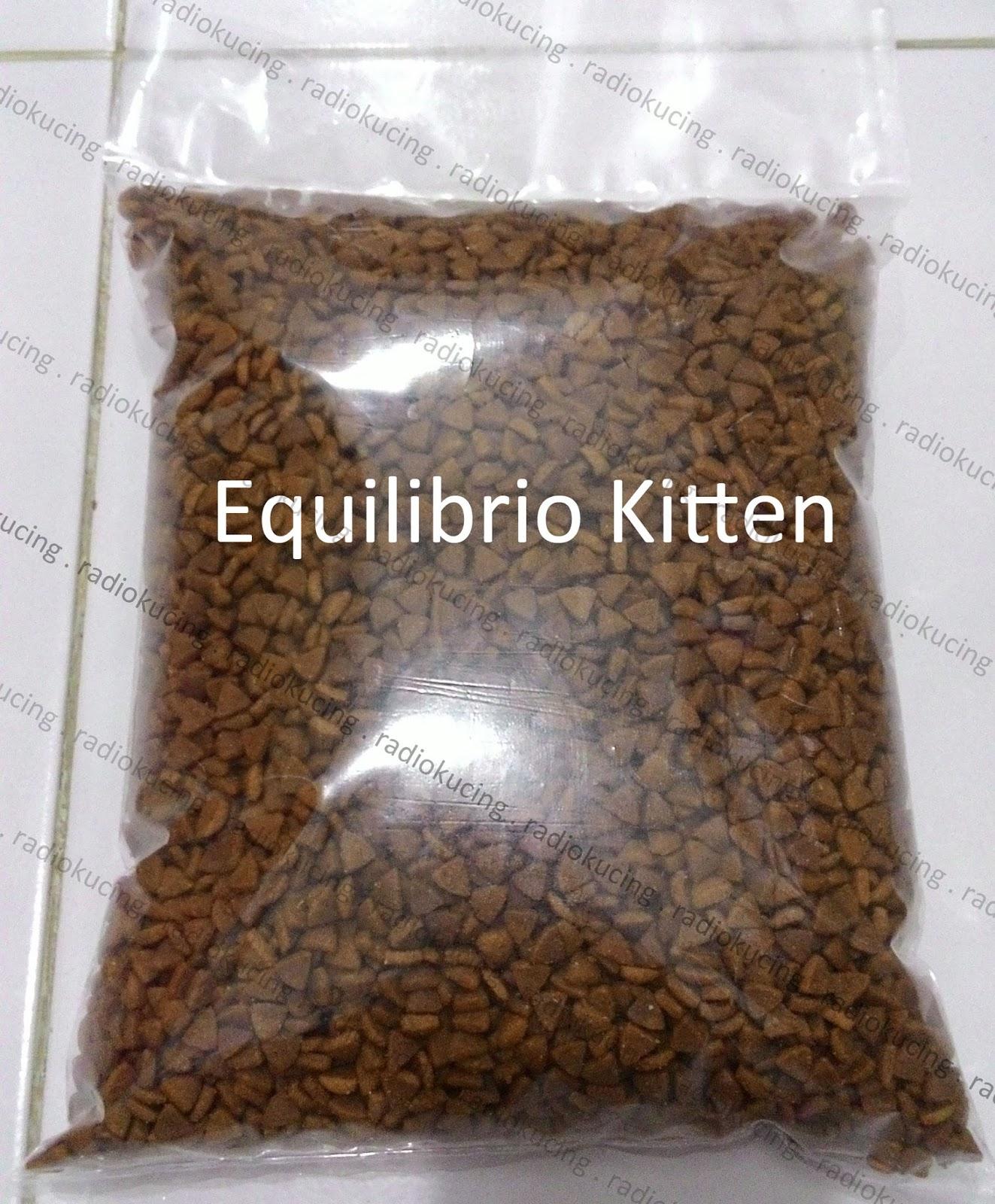 Review Makanan Kucing Equilibrio Kitten RadioKucing