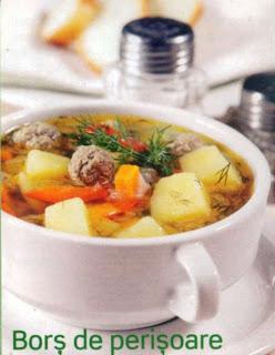 Reteta culinara pentru hipertensivi - Bors de perisoare
