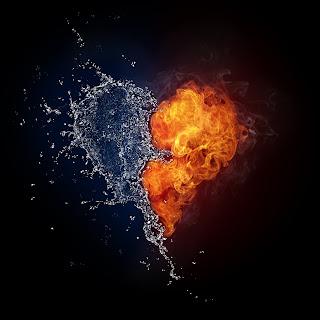 liebesbilder, herzenbilder, herz, love, love picture, feuer, wasser