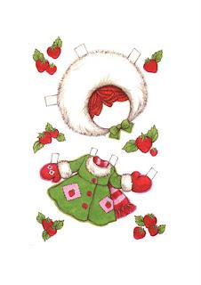 abrigo de invierno de tarta de fresa