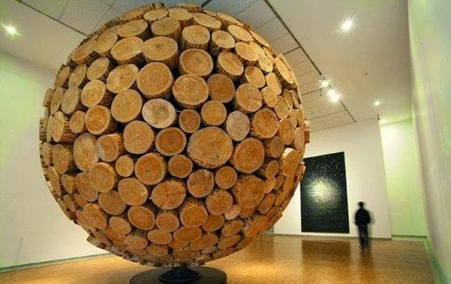 فن جميل من أغصان الأشجار
