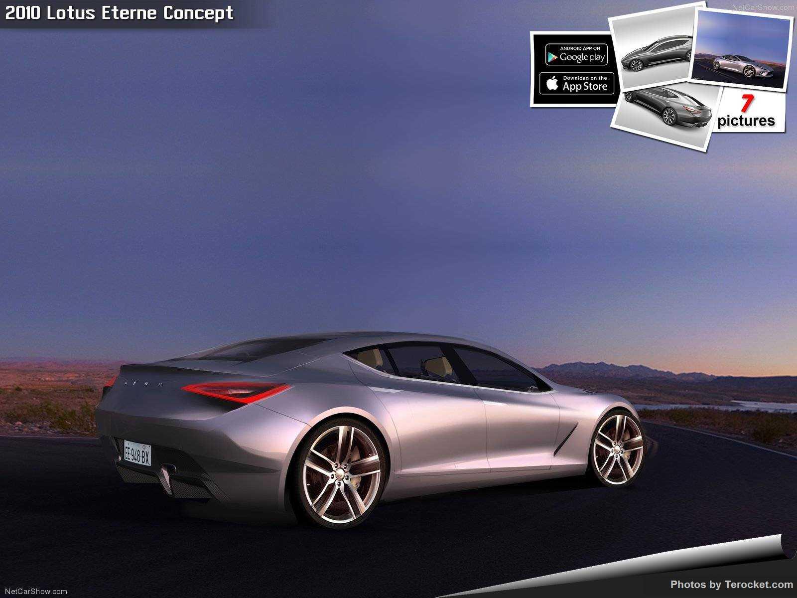 Hình ảnh siêu xe Lotus Eterne Concept 2010 & nội ngoại thất