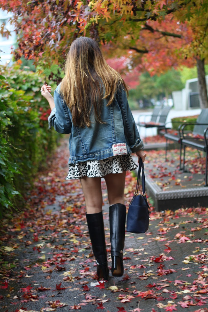 Style-Fashion-wearing-true-religion-denim-jacket-zara-leopard-skirt-zara-boots-michaelkors-bag