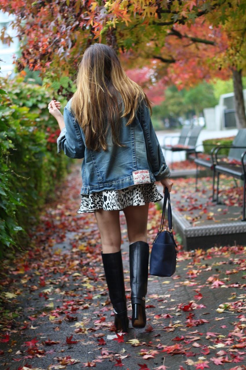 Style-Fashion-wearing-true-religion-denim-jacket-zara-leopard-skirt-zara-boots-michaelkors-bag