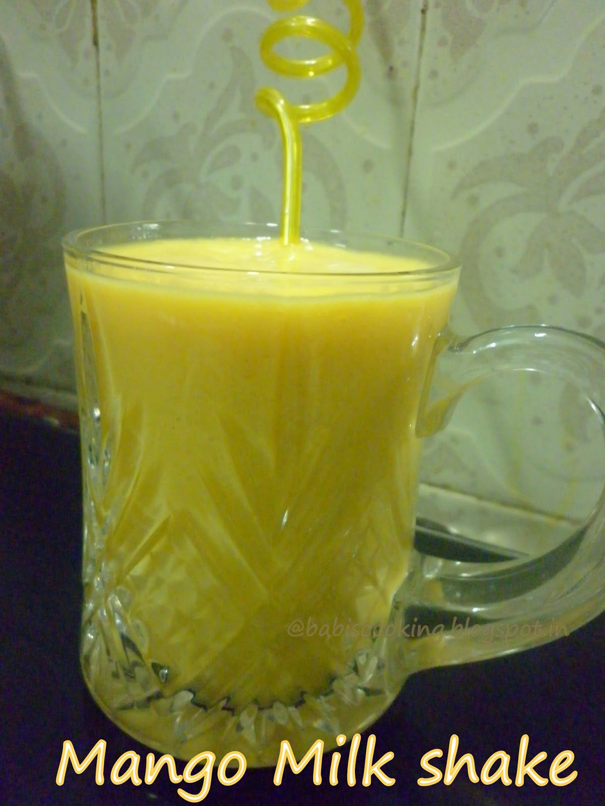 Babi 's Recipes: Mango milk shake | Mango Recipe