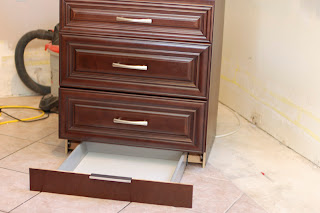 IKEA kitchen cabinet with toe kick drawer