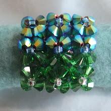 Unik ring, grønn