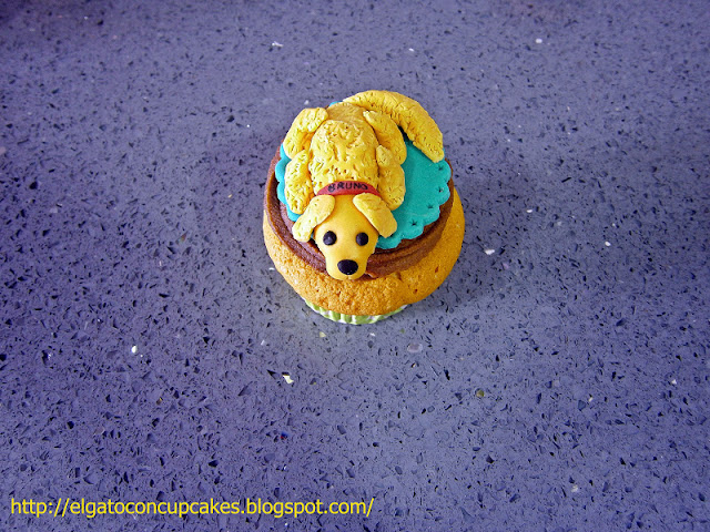 cupcakes perro golden retriever
