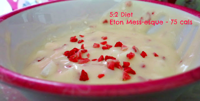 5:2 diet pudding Eton Mess - esque