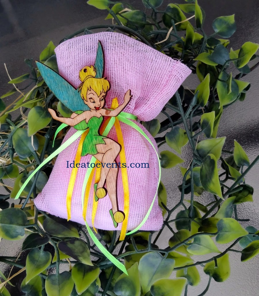 Tinkerbell Christening handpainted pouch μπομπονιέρα βάπτισης