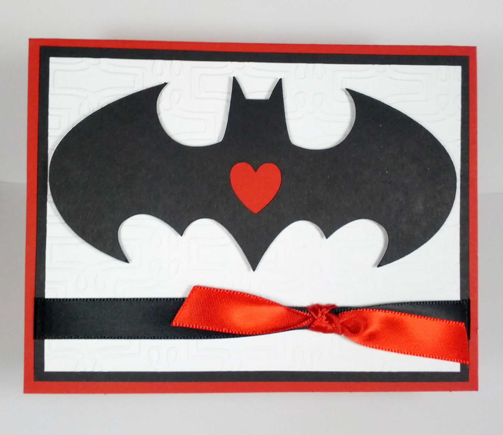 She Then Asked If I Would Make A Valentines Card For Her To Give W/ The  Batman Image On It So This Is The Card I Came Up With: