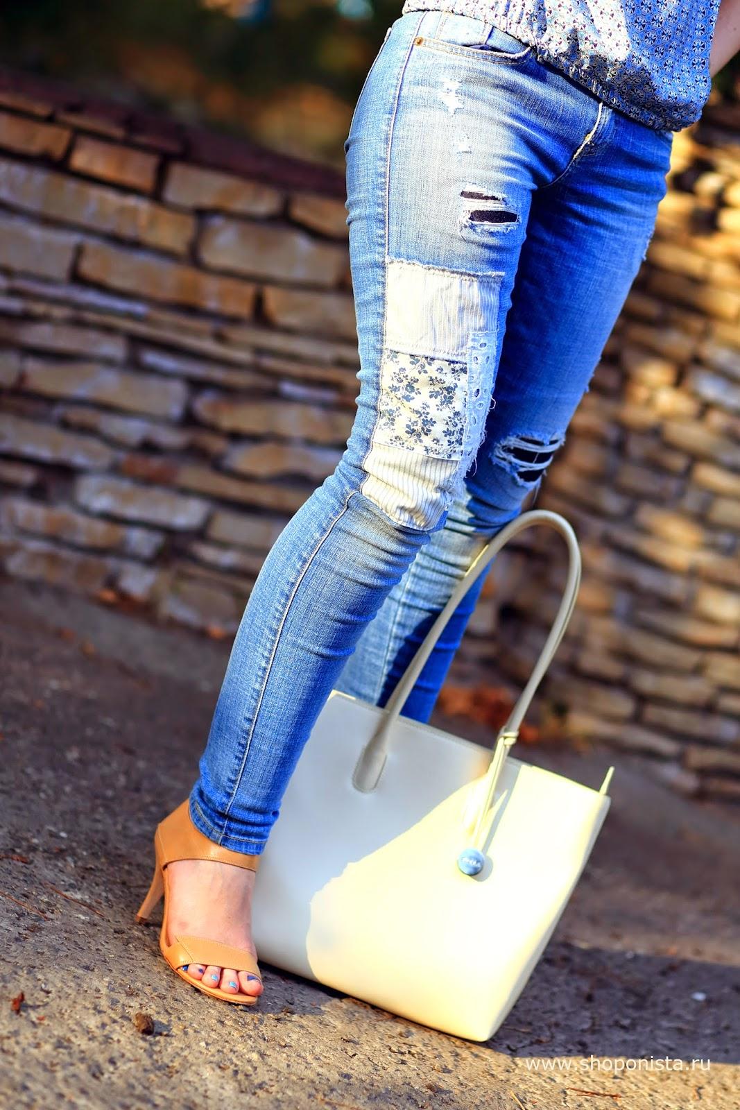 Как сделать красивую заплатку на джинсы фото