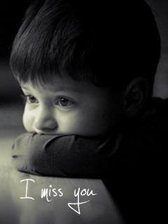 i miss you kid sad