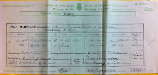 Elizabeth Nye and Richard Goldsmith marriage record 28 Nov 1852