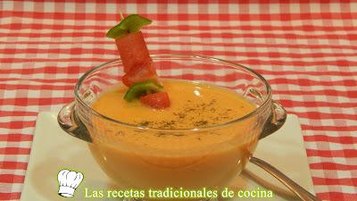 Receta de gazpacho o crema fría de sandia