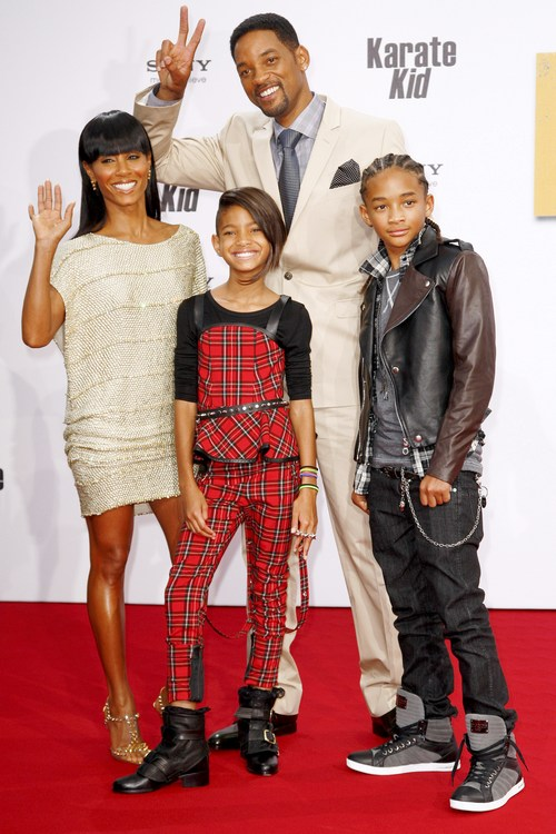 will smith family photo. makeup US actor Will Smith