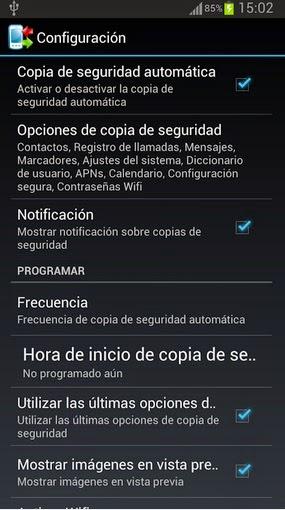 Aplicaciones gratis – Aplicación para crear una copia de seguridad de mi teléfono Android