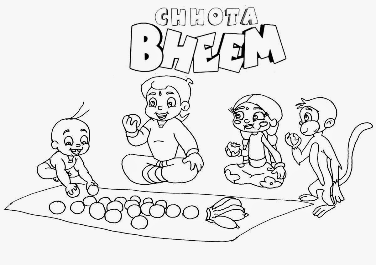 chota bheem team coloring pages - photo#32