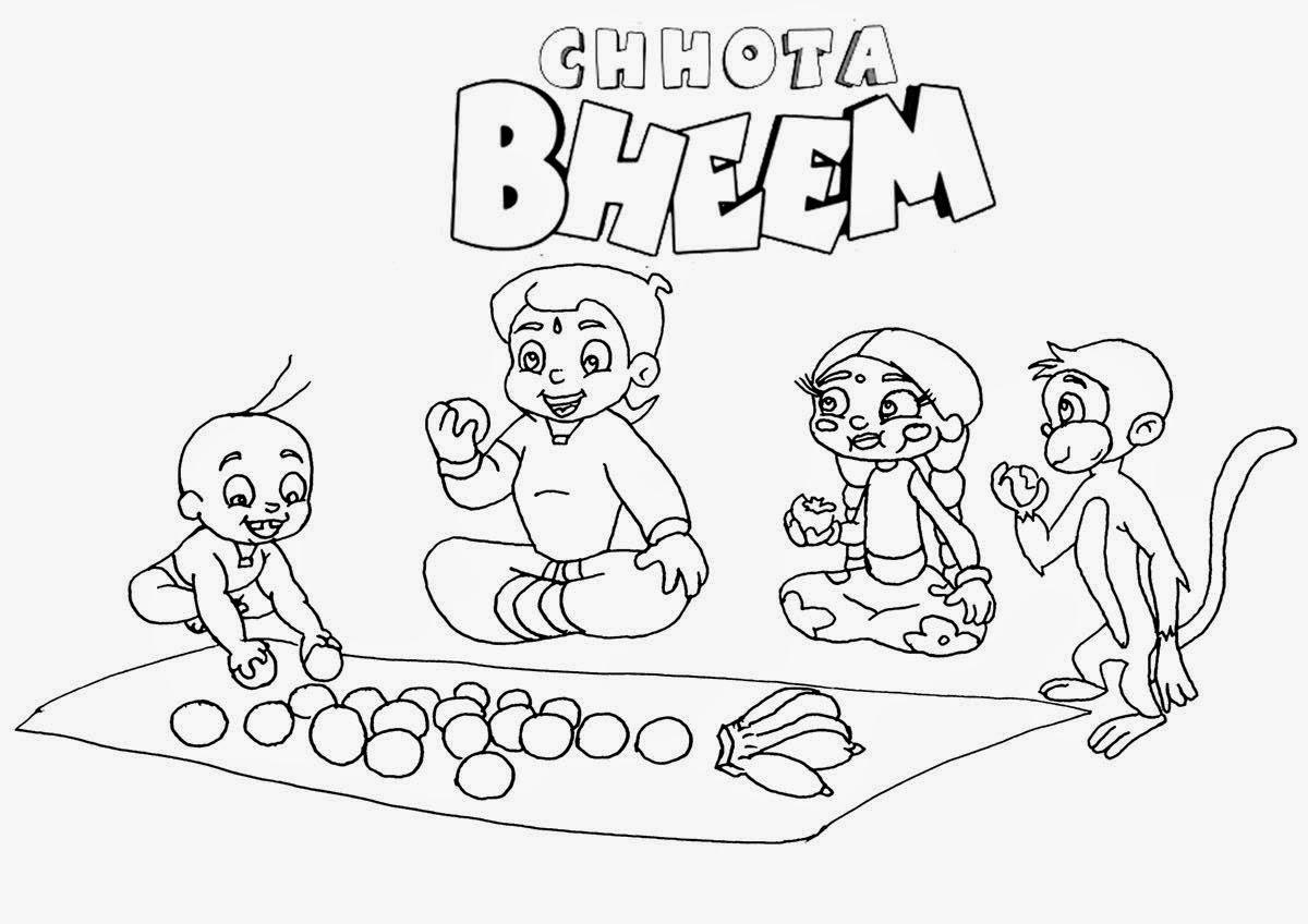 Colour Drawing Free Hd Wallpapers Disney Pogo Cartoon Chota Bheem Colour Drawing